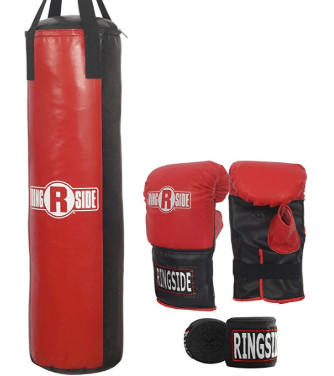 punching bag kit with gloves