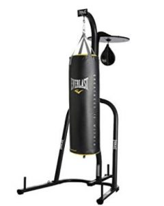 2 station 100lb heavy bag with speed bag for precision training