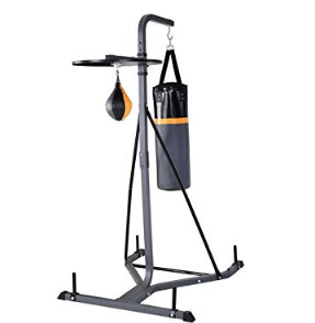 2 station punching bag with a speed bag for teenager