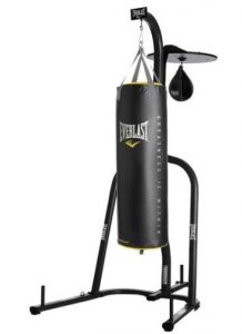 Kickboxing bag with speed bag