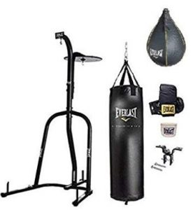 Everlast Dual Station outdoor punching bag with stand