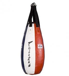 teardrop leather punching bag