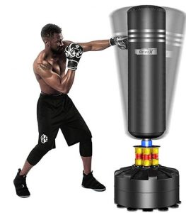 solid floor standing punching bag