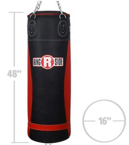 Ringside leather heavy bag for boxing