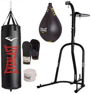 best heavy bag for apartment with stand and speed bag