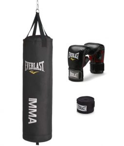 Everlast 70 pound punching bag kit for MMA