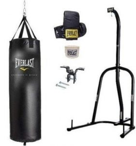 Everlast mma heavy bag for indoor gym and outdoor backyard
