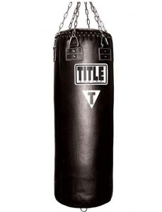 Title brand leather punching bag