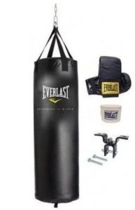 Everlast boxing bag kit with gloves and wraps