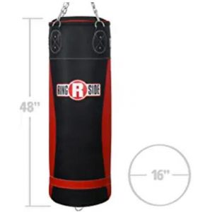 Ringside boxing heavy bag