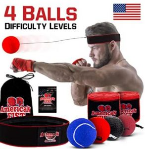 portable reflex punching bag with head band