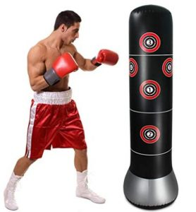 inflatable punching bag for target training