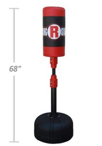 Ringside floor punching bag with heavy base for home gym