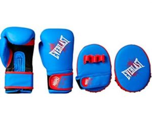 Everlast punching bag gloves and mitts set for children