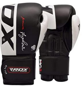 RDX 16oz leather sparring and punching gloves for durability